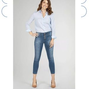 ROYALTY skinny mid rise ankle denim jeans size 8